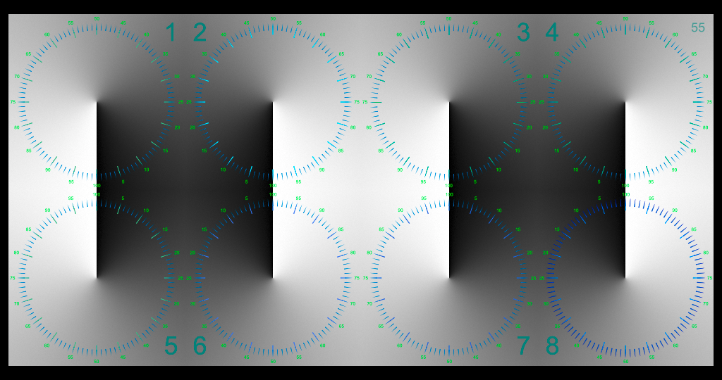 White Squares with a Radial Gradient and Scale