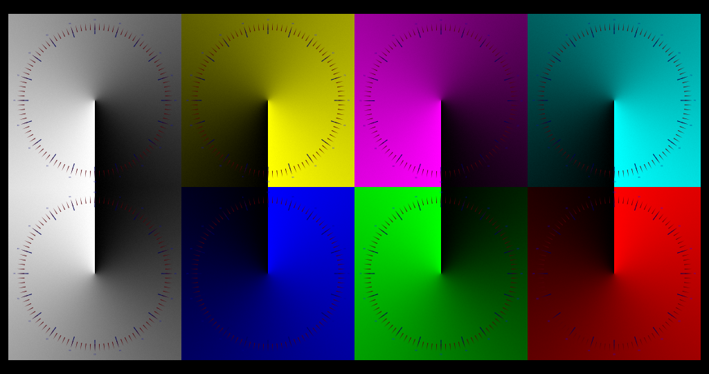 Primary and Secondary color dials...with scale